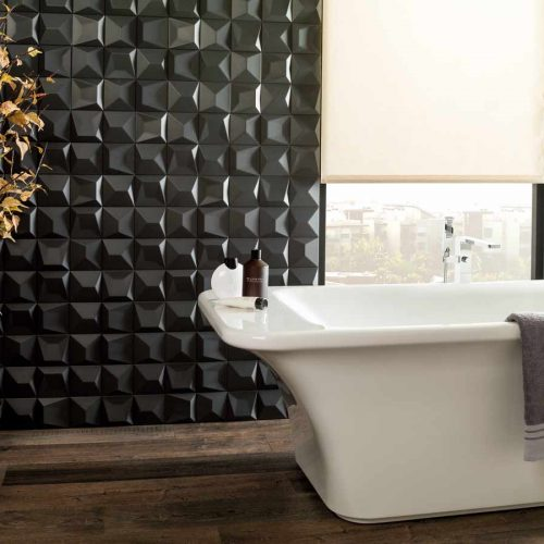 Satariano-L-Antic-Colonial-Bathroom-Modern-black-3d-tiled-partition