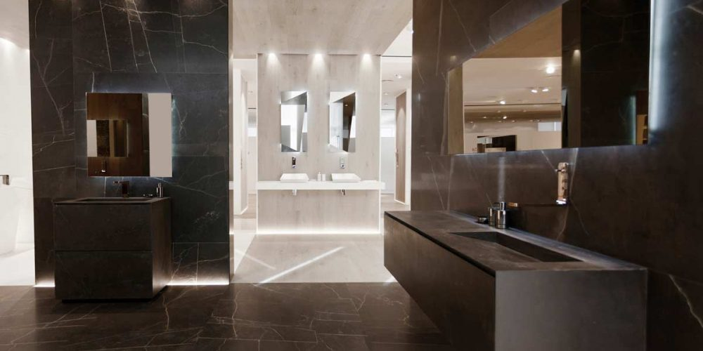 Satariano-L-Antic-Colonial-Bathroom-Modern-dark-brown-cracked-tiles-for-walls-and-floors