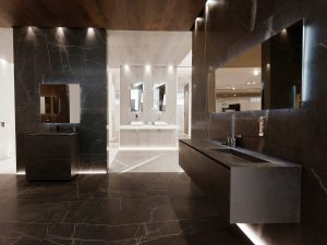 Satariano L Antic Colonial Bathroom Modern Dark Brown Cracked Tiles For Walls And Floors Satariano