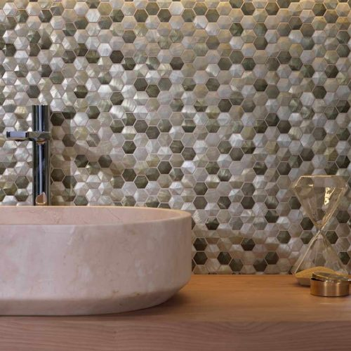 Satariano-L-Antic-Colonial-Bathroom-Modern-mother-of-pearl-small-tiles