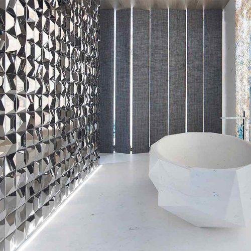 Satariano-L-Antic-Colonial-Bathroom-Modern-silver-featured-wall-in-bathroom