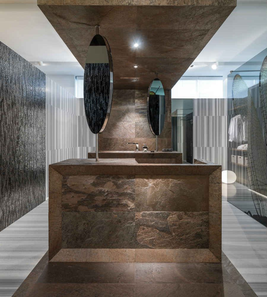 Satariano-L-Antic-Colonial-Walls-and-Floors-contemporary-style-bathroom-feature-tiling-with-mirrors
