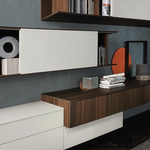 Satariano-Living-San-Giacomo-Classic-dark-brown-shelving-with-white-slide-out-doors