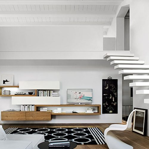 Satariano-Living-San-Giacomo-Classic-elongated-wall-unit-with-shelves-un-even