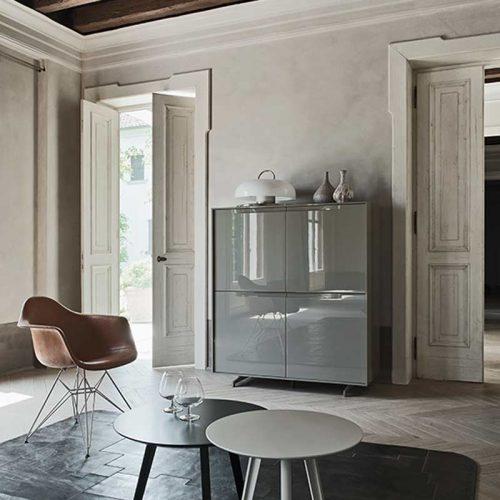 Satariano-Living-San-Giacomo-Classic-high-gloss-grey-finish-square-storage-unit