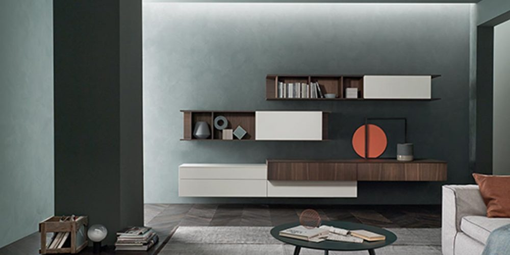 Satariano-Living-San-Giacomo-Classic-shelving-wall-unit-white-and-dark-brown-wooden-texture