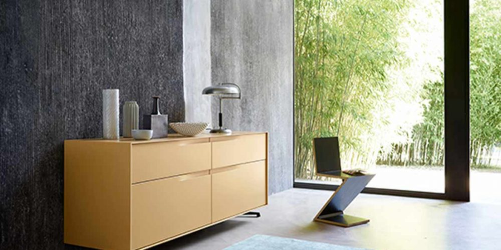 Satariano-Living-San-Giacomo-Classic-yellow-storage-unit-on-metal-legs