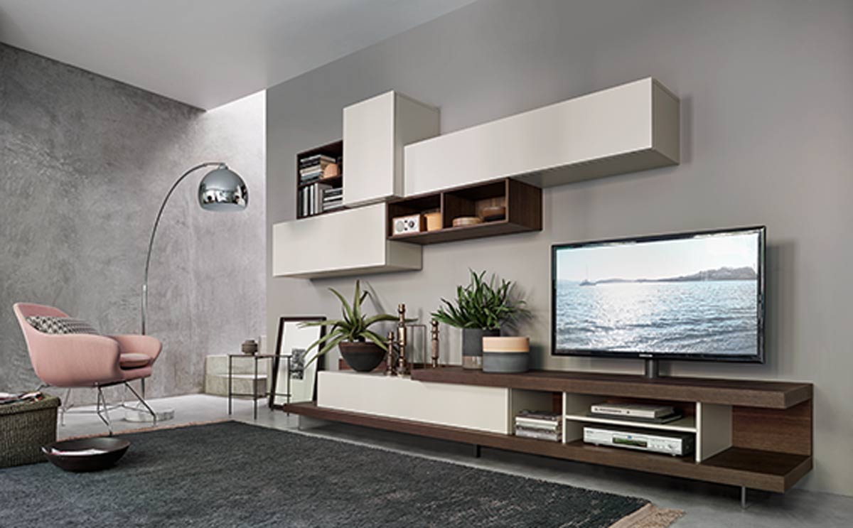 Satariano Living San Giacomo Contemporary Tv Unit With Storage 2 Satariano