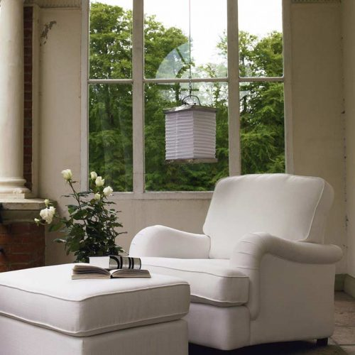 Satariano-Living-and-Dining-Classic-furninova-white-armchair-with-resting-poof