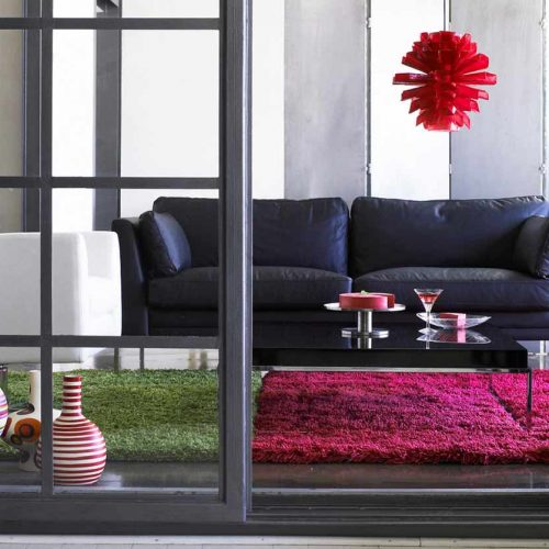 Satariano-Living-and-Dining-Modern-Furinova-blue-faux-leather-sofa