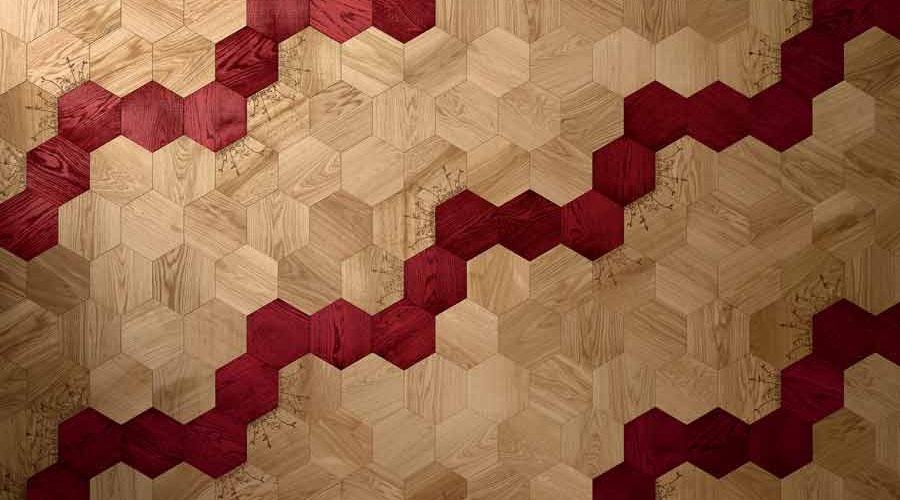 Satariano-Walls-and-Floors-Bisazza-light-wooden-and-bright-red