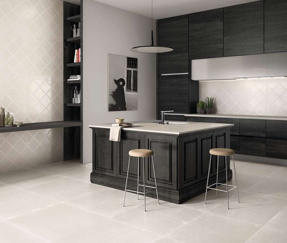 Satariano-Walls-and-Floors-Viva-Classic-beige-whitefloor-tiling-and-feature-square-high-gloss-wall-tiling