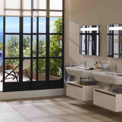 Satariano Bathooms Noken Classic his and her sinks