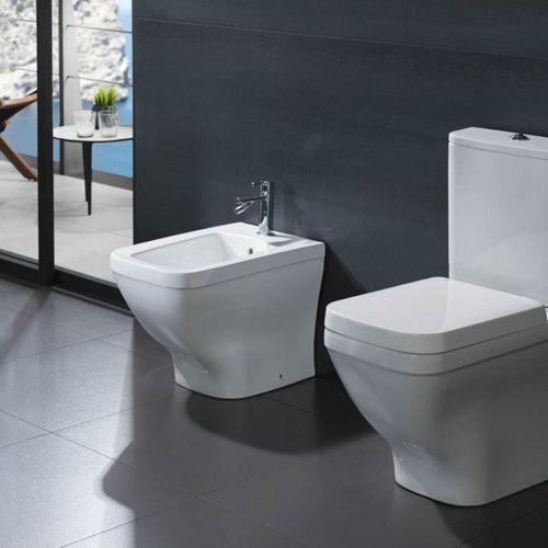 Satariano Bathooms Noken Classic white toilet and bidet