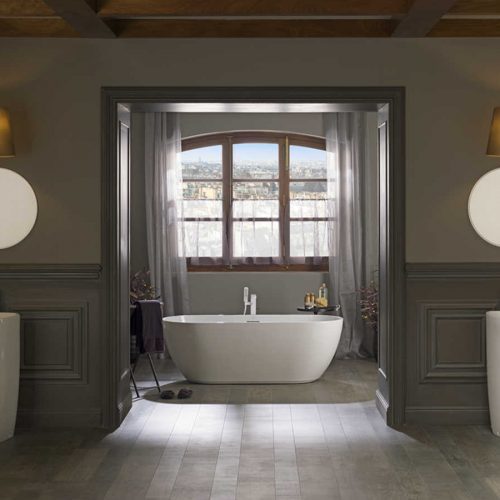 Satariano Bathooms Noken Contemporary large bath and full length sinks