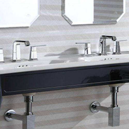 Satariano Bathooms Noken Contemporary one large dual sink
