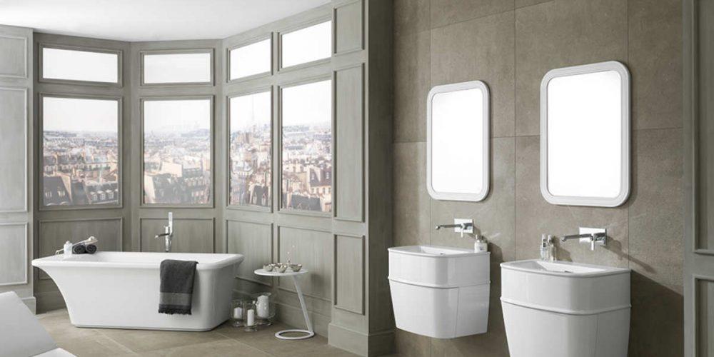 Satariano Bathooms Noken Modern dual sinks and large bath