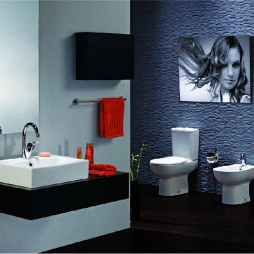Satariano Bathrooms Ideal Standard Classic black and white units