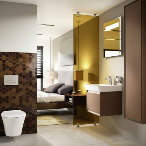 Satariano Bathrooms Ideal Standard Contemporary brown finish