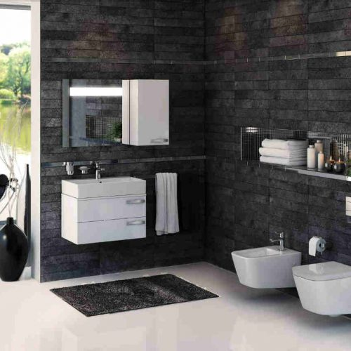 Satariano Bathrooms Ideal Standard Contemporary white storage units and sanitary