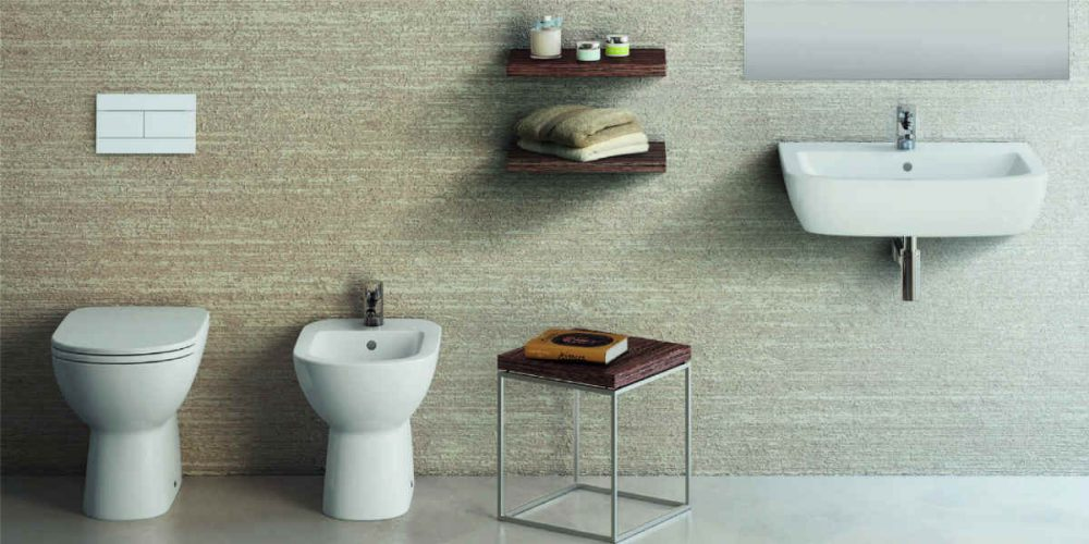 Satariano Bathrooms Ideal Standard Modern white sanitaryware units