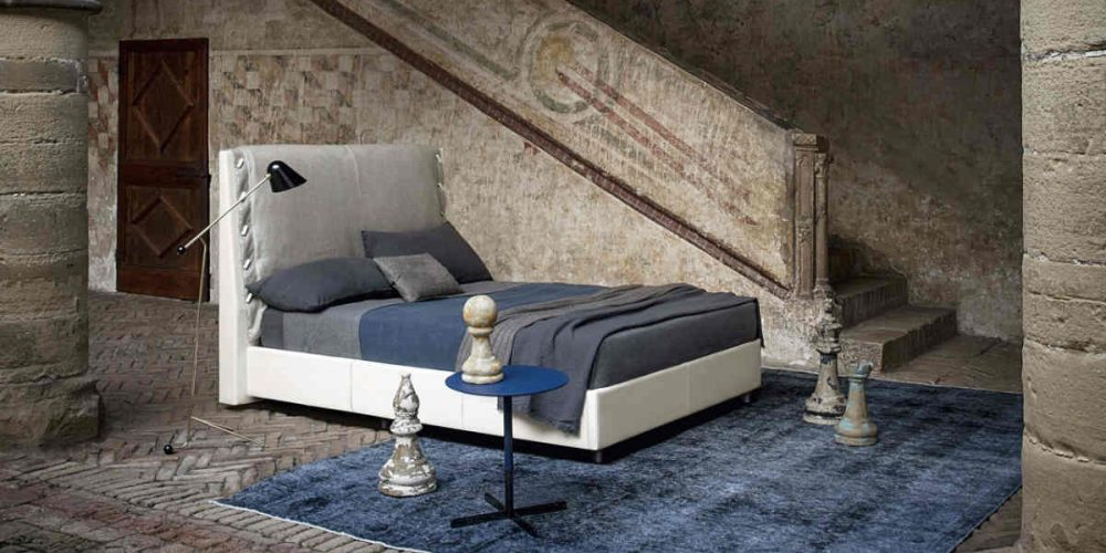Satariano Bedrooms Poltrona Frau Modern large headrest bed