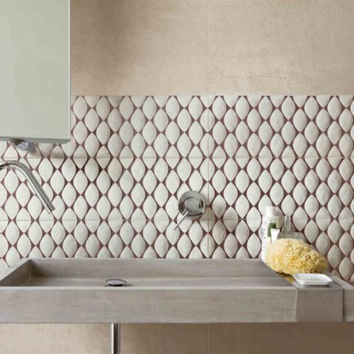 Satariano Floors and Walls Casa Dolce Casa Classic Bathroom beige tiling and feature wall