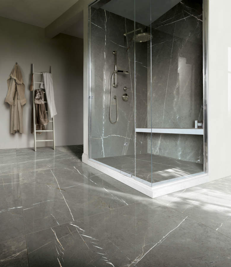 Satariano Floors And Walls Casa Dolce Casa Contemporary Bathroom Grey Marble  Gloss Flooring Shower