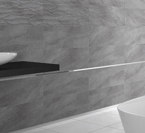 Satariano Floors and Walls Graniser Modern bathroom grey textured tiles