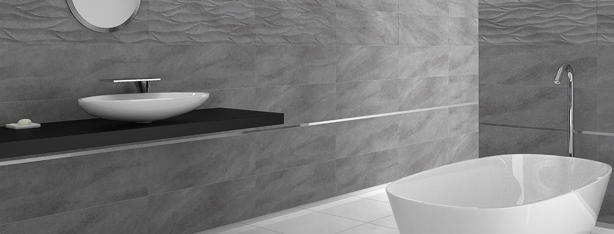Satariano Floors And Walls Graniser Modern Bathroom Grey Textured Tiles Satariano