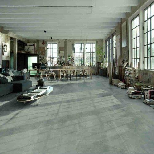 Satariano Floors and Walls Marazzi Contemporary grey flooring interior