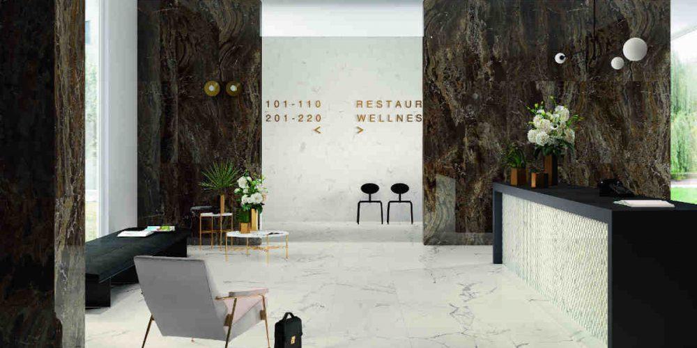 Satariano Floors and Walls Marazzi Contemporary light marble