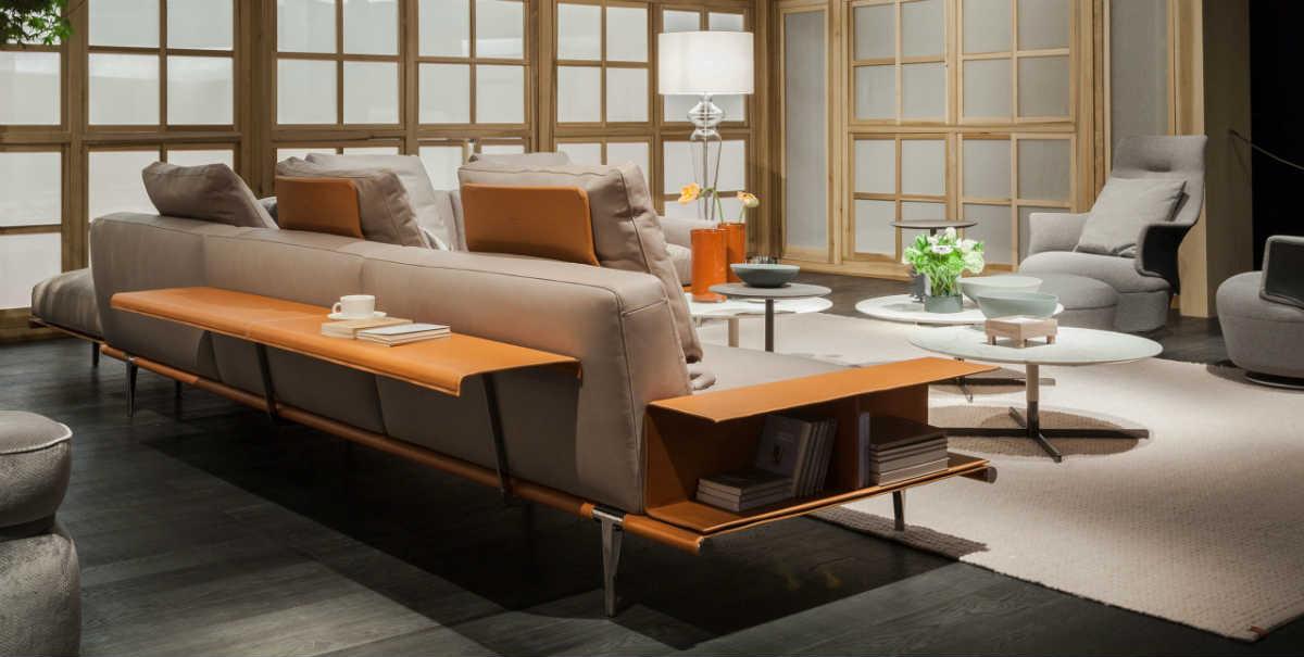 Poltrona Sofa.Satariano Living And Dining Poltrona Frau Classic Beige Large Sofa