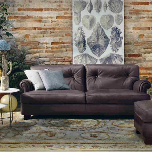 Satariano Living and Dining Poltrona Frau Classic rounded sofa
