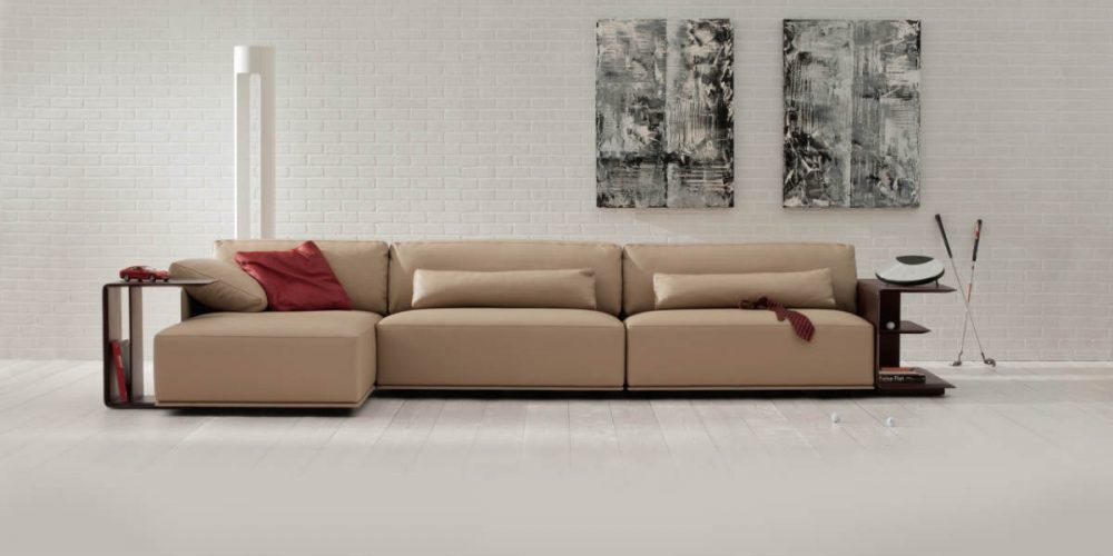 Satariano Living and Dining Poltrona Frau Contemporary lowrise cornered sofa