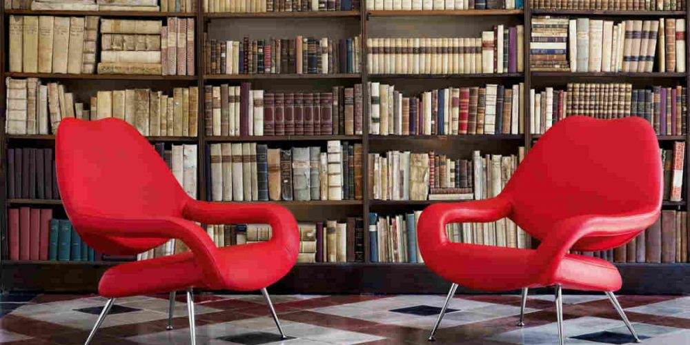 Satariano Living and Dining Poltrona Frau Modern bright red armchairs