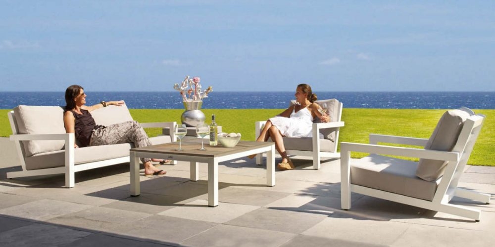 Satariano Outdoor and Spa Applebee sofa and armchairs outside furniture