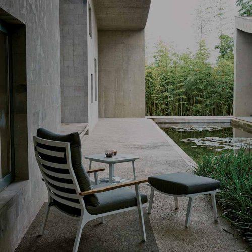 Satariano Outdoor and Spa Satariano Outdoor Furniture high back sofa