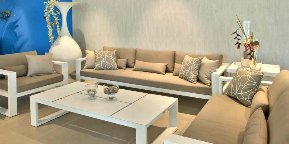 Satariano Outdoor and Spa Satariano Outdoor Furniture white and white sofa furniture outside
