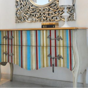 Satariano - store - Lola Glamour Vega Striped 2-drawer unit